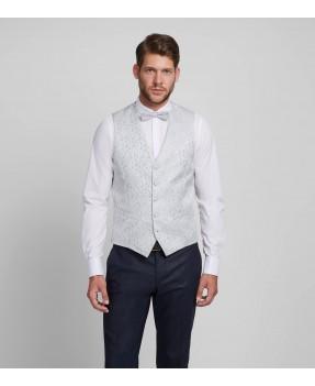 Lamber Silver Waistcoat Set